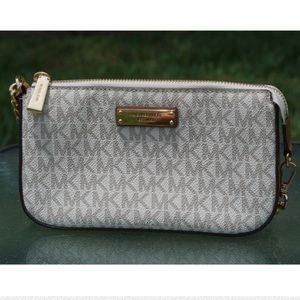 Michael Kors Bags - Michael Kors signature mini purse tan/white/gold